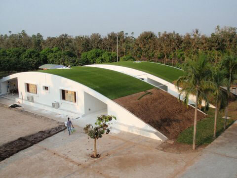 artificial turf for a green roof garden