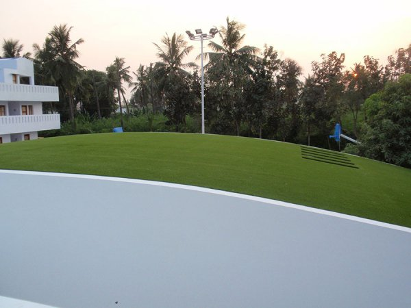artificial turf for a roof garden