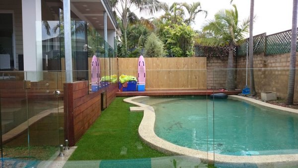 Small pool in Sydney with Royal Grass