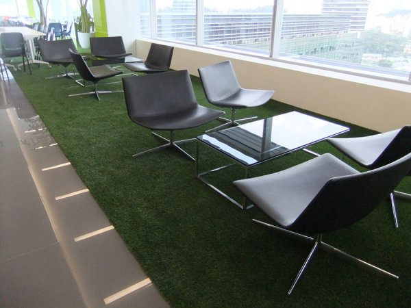 artificial grass indoor conference room