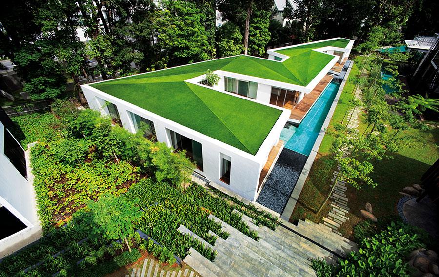 Artificial grass roog garden