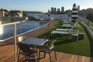 Rooftop with artificial grass
