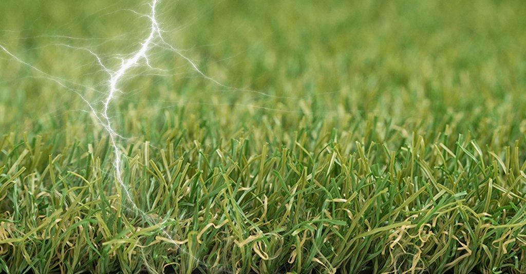 artificial grass static